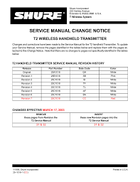 shure bg 3 1 service manual