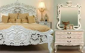 Vintage Bed Frames Rococo White French Bedroom Furniture Descargas Mundiales Com