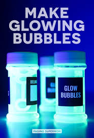 black light party ideas science diy glow bubbles for blacklight and more