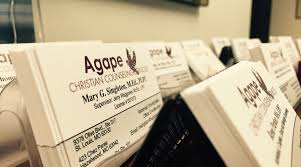 Business Cards St Louis Olivette Office Agape Christian Counseling St Louis