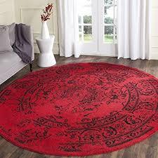 spelndid red round rug scarlet magic peony flower shaped rugs