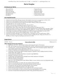 resume for it support resume of marla douglas office manager u0026 executive assistant