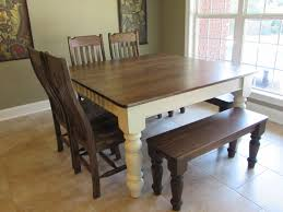 kitchen awesome farmhouse kitchen table with bench in best just