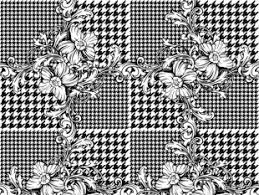 floral background with houndstooth free vectors ui