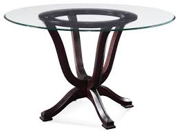 round glass top tables 42 inches transitional dining tables houzz with 42 round glass dining table