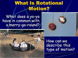 rotational motion what does a yo yo in common with a merry