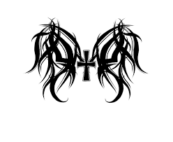 cross with wings designs
