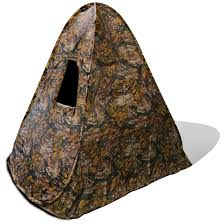 yukon tracks fall camo sniper blind 161696 ground blinds at