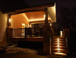 Covered Patio Lighting Ideas Deck And Covered Porch