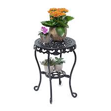 flower table m 41 x 30 cm relaxdays flower stand cast iron flower