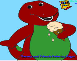 barney friends coloring pages printable barney friends