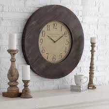 williston 29 5 in reclaimed rustic oversized wall clock home
