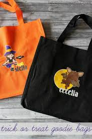 personalized trick or treat bags personalized trick or treat bags with printable vinyl