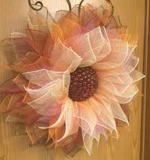 sunflower mesh wreath deco mesh sunflower tutorial shows how to diy this seasonal wreath