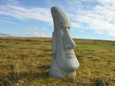 x large easter island statue garden ornament ebay