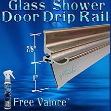 Shower Door Drip Rail And Sweep 36 Brush Nickel Framed Glass Shower Door Drip Rail Kit Comes Pre