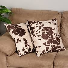 Faux Cowhide Chair Black And White Faux Cow Hide Print Decorative Pillows Set Of 2