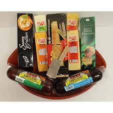 cheese and cracker gift baskets football party favorites gourmet sausage cheese and