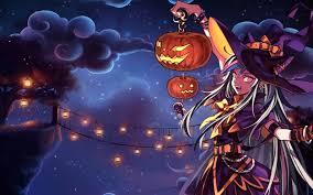halloween background picture wich hand holding pumpkins before bridge lantern vector