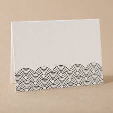 letterpress escort cards and place cards from bella figura