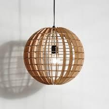 Wood Pendant Light Hemmesphere Wooden Pendant L Crowdyhouse