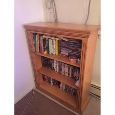 Bookcase Maple Solid Maple Bookcase Storage Shelves Aptdeco