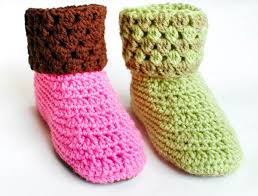 womens slipper boots size 11 booties crochet slippers petals to picots