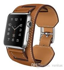 leather strap bracelet watches images New oem cuff bracelet real genuine leather band for apple watch jpg