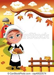 thanksgiving day background square pilgrim turkey american