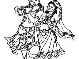krishna radha clipart