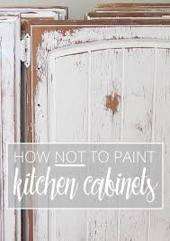 How To Clean Cherry Kitchen Cabinets by How Not To Paint Kitchen Cabinets