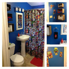 Dc Shower Curtain Retro Marvel Bathroom Mom Made The Shower Curtain Spiderman Shower