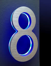 house number light box house number plaque modern ty home pinterest number modern