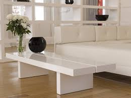 Glossy White Desk by Temahome Wood Honeycomb Panel Tokyo 150 Cm Coffee Table With High