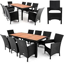 8 Seater Patio Table And Chairs Poly Rattan Garden Furniture Dining Table Set 8 Seater Acacia