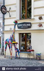 upcycling deluxe shop makes trash into stylish designs stock photo