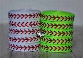 softball ribbon by the yard 5 yards 3 8 baseball softball laces print grosgrain ribbon