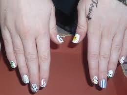 the little curly nail art
