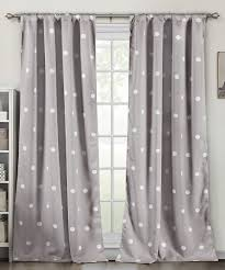 Duck River Window Curtains Duck River Textile Gray Polka Dot Blackout Heavy Curtain Panel