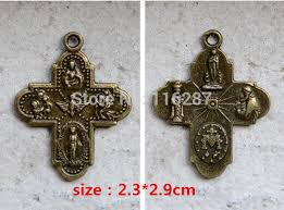 religious gifts catholic holy charm necklace pendant antique bronze medal religious