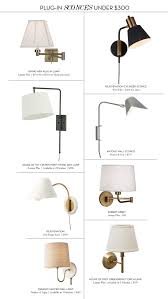Swing Arm Wall Sconce Plug In Spaces Plug In Sconces For Under 300 U2014 Fourth Floor Walk Up