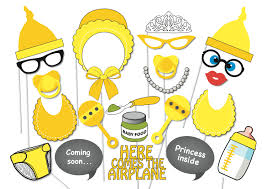 baby shower photo booth props images handycraft decoration ideas