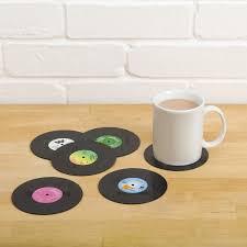 amazon com spinning hat retro vinyl coasters home u0026 kitchen