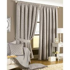 Jacquard Curtain Paoletti Belmont Chenille Jacquard Pencil Pleat Curtains Silver