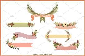 glitter floral peach chic 50 off illustrations creative market