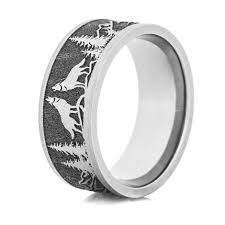 can titanium rings be engraved men s laser carved titanium wolf ring titanium buzz