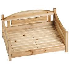 canapé lit pour chien canape en bois panier lit couchage corbeilles osier pour chiens en