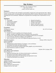 Skills Resume Format Event Planning Skills Resume Resume For Your Job Application