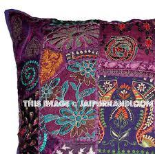 24x24 Decorative Pillows 24x24 Purple Decorative Throw Pillows Indian Patchwork Sofa Cushions