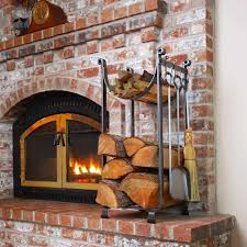 fireplace tools with log holder home decorating interior design